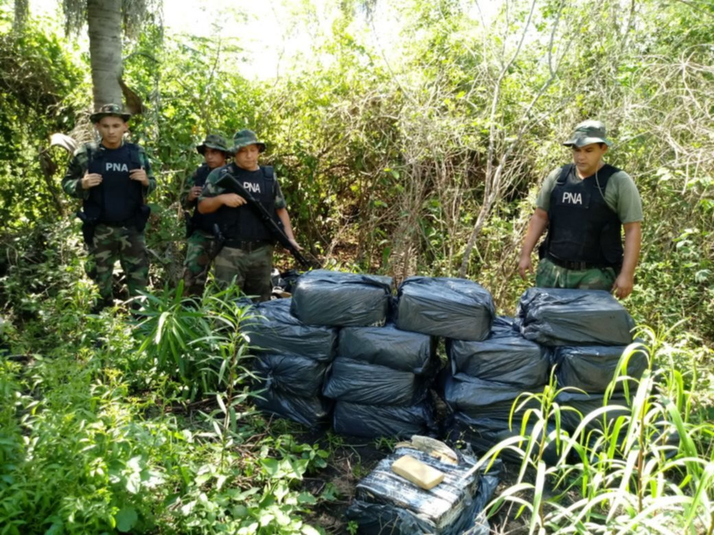 Incautan casi media tonelada de marihuana en Itatí