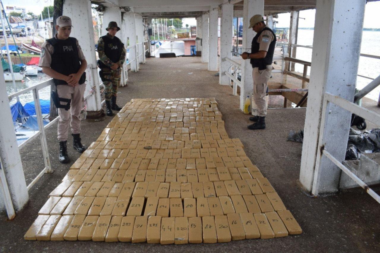 La Prefectura secuestró más de una tonelada de droga en Corrientes