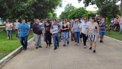 <p>Justicia. Hace una semana se realizó una marcha en la villa turística.</p>