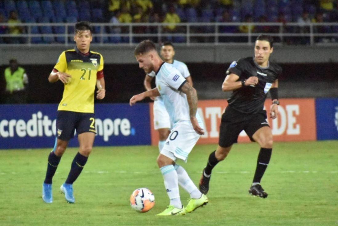 <p>Se destacó. El jugador de Boca, Alexis Mac Allister, anotó la única conquista del partido.</p>