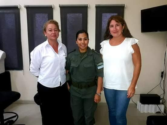 <p>Cónclave. Participaron la directora de Tránsito, la jefa de Patrulla de Gendarmería y la secretaria de Gobierno de Santa Lucía.</p>
