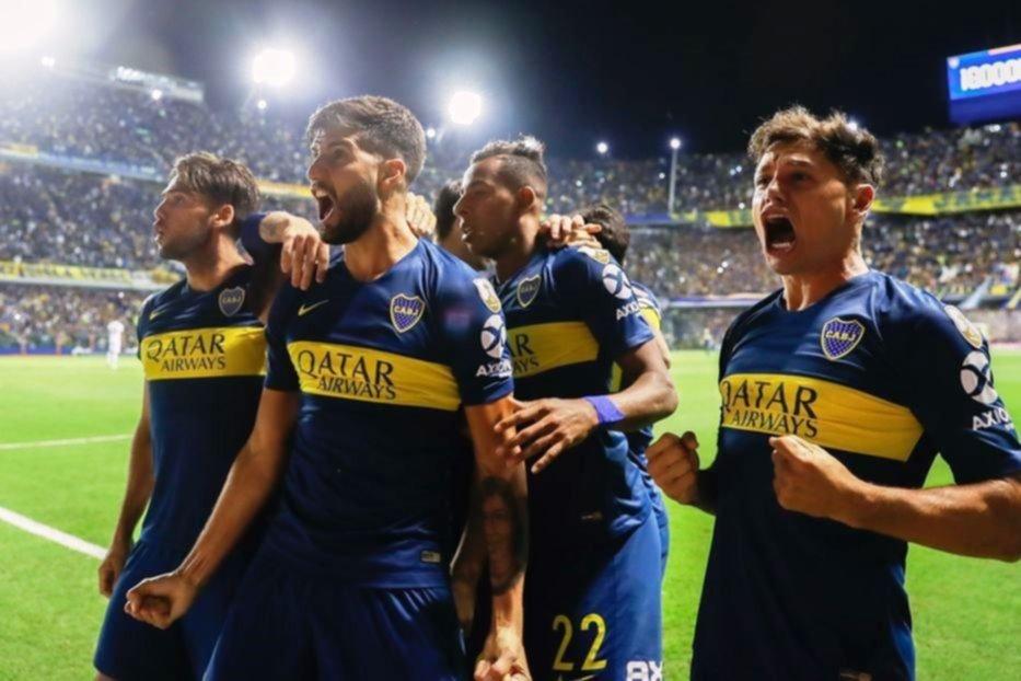 <p>Festejo. Boca sumó los primeros tres puntos, venciendo holgadamente al equipo colombiano.</p>