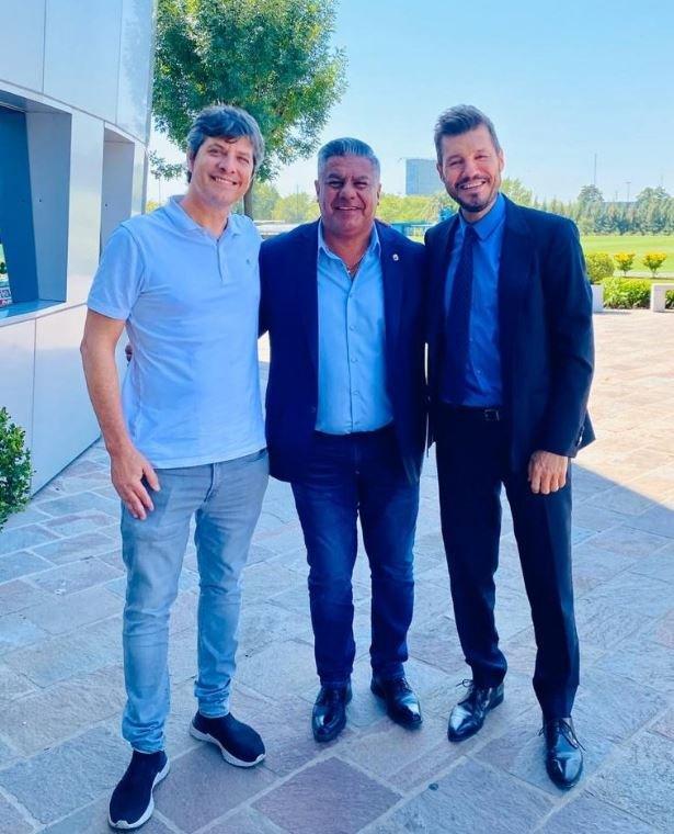 <p>Reunión. El presidente de la AFA, Claudio Tapia, se reunió con los empresarios televisivos Mario Pergolini y Marcelo Tinelli.</p>
