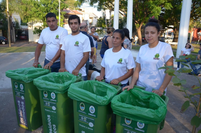 <p>Puntos verdes. La cooperativa recibe residuos reciclables en distintos eventos que se realizan en la ciudad.</p>