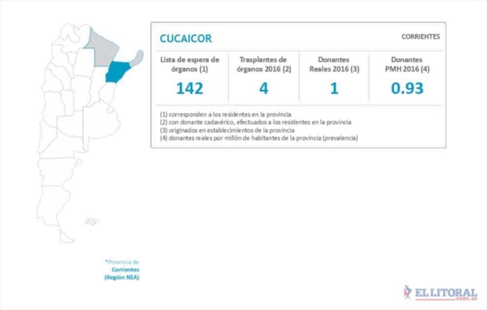 Datos oficiales del INCUCAI