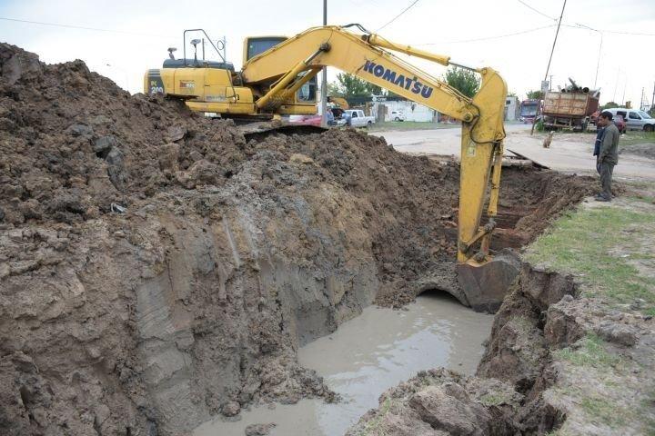 <p>Obras. Los desagües de Alta Gracia afectarían a las viviendas.</p>