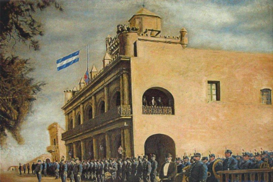 <p>Cabildo. La imagen más difundida del Cabildo de Corrientes es una construcción posterior a los hechos de 1810. Fue construido entre 1813 y 1817, y demolido en 1905.</p>