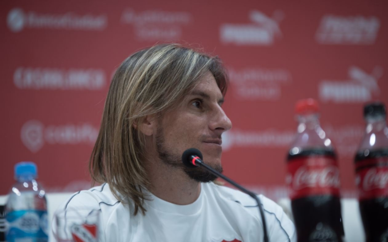<p>A gusto. Beccacece no ocultó el entusiasmo que le genera el inicio de su ciclo en Independiente.</p>