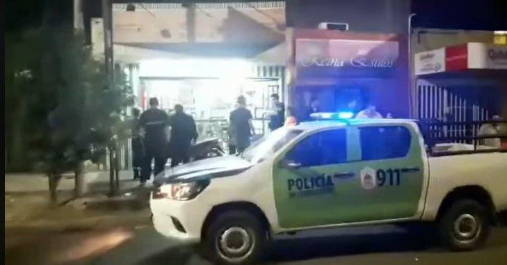 <p>Robo. El local del Rapipago asaltado por delincuentes en las últimas horas del viernes.</p>