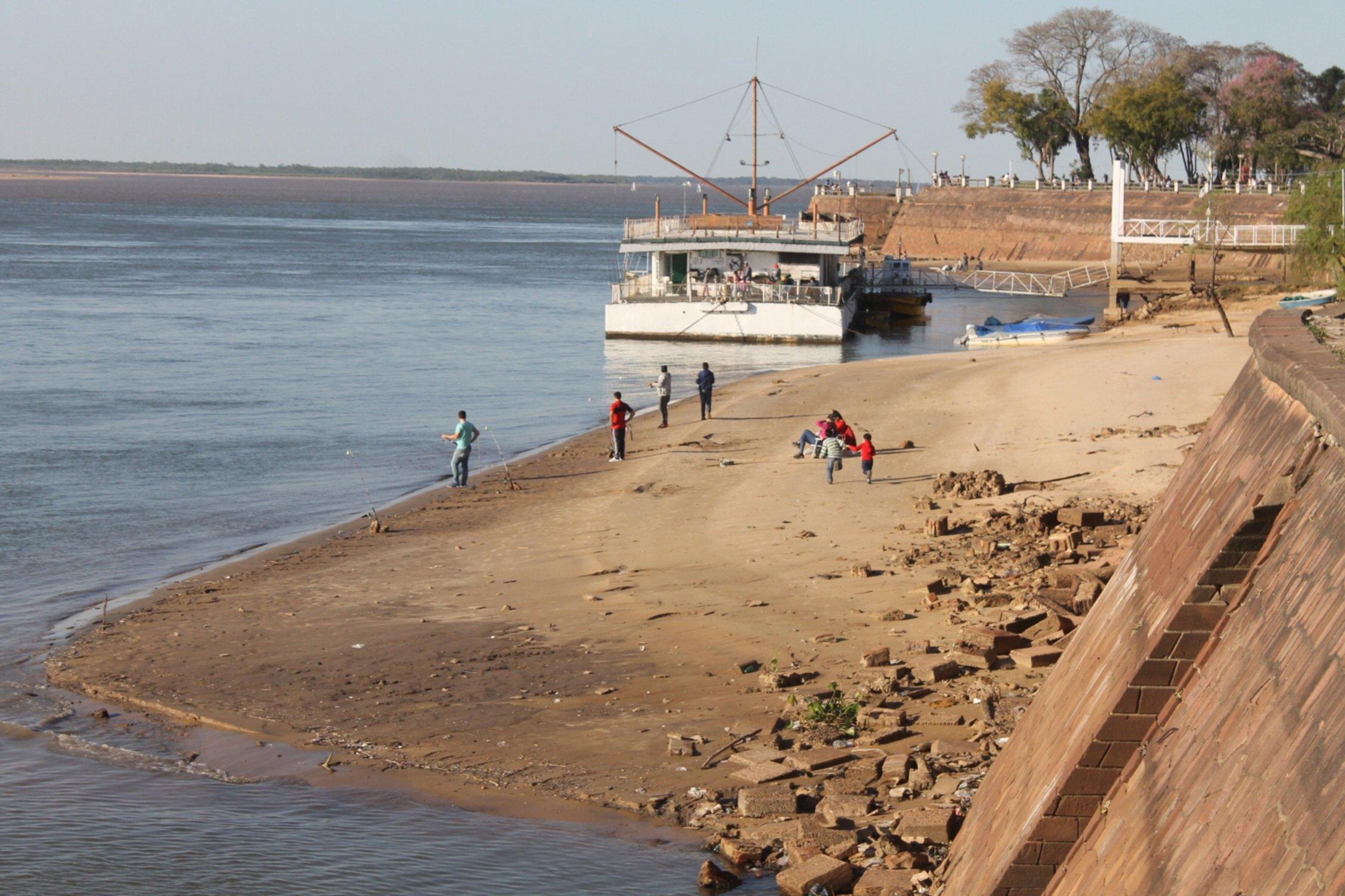 El río Paraná marcó ayer 1,66 metros en Corrientes y continúa con tendencia descendente