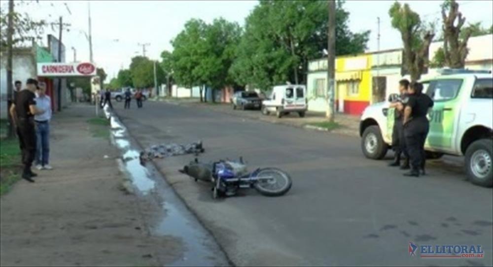 MUERTE. El lugar donde se produjo el accidente. (Foto Gentileza Power Noticias)