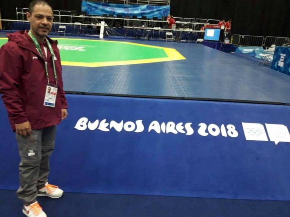 <p>&Aacute;rbitro. Pablo Servilla est&aacute; presente en el taekwondo ol&iacute;mpico.</p>