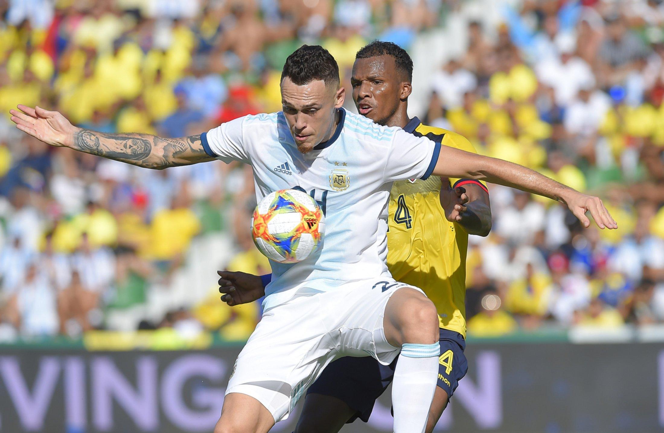 <p>Anotó. Lucas Ocampo volvió a convertir en el amistoso de la selección argentina.</p>