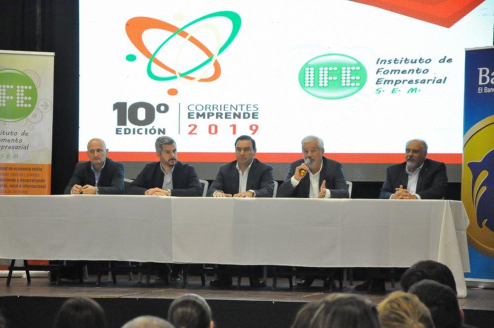 <p>Corrientes Emprende. El ministro de Producción anunció los nuevos beneficios en el marco de la entrega de premios del programa.</p>