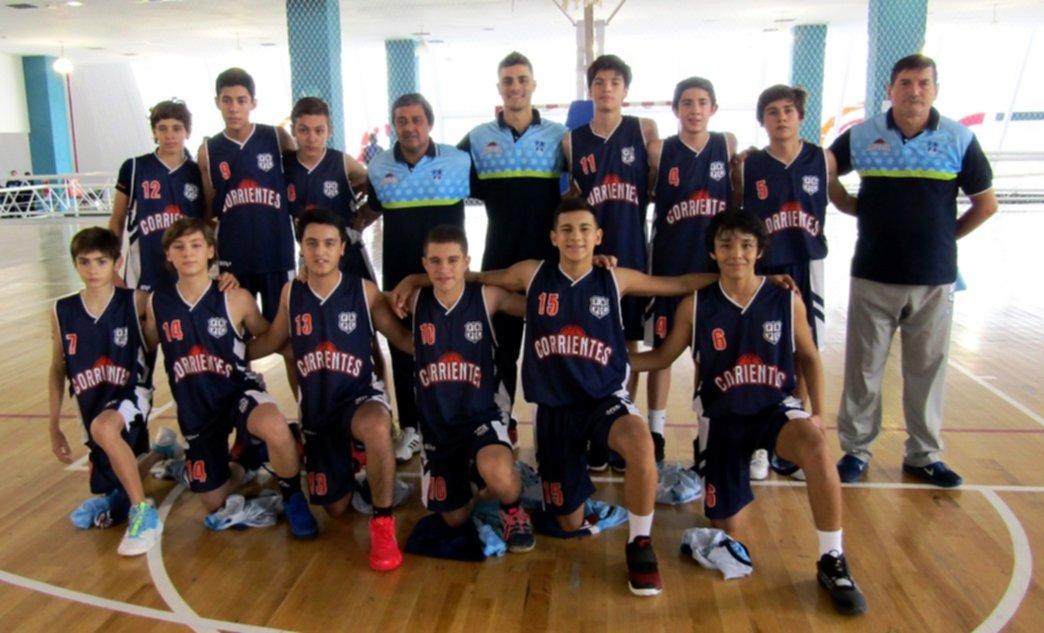 <p>Equipo. Plantel de Corrientes que participa del Argentino U13 en San Luis.</p>