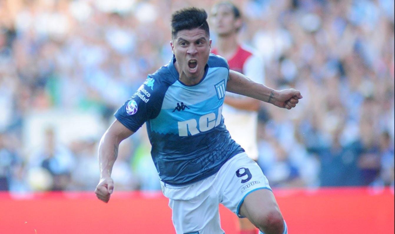 <p>Goleador. Jonathan Cristaldo anot&oacute; el &uacute;nico gol del partido disputado en el Cilindro.&nbsp;</p>