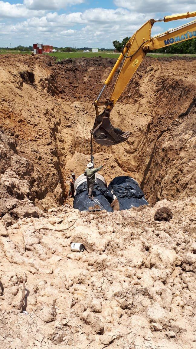 <p>Tunel. La obra demanda excavaciones de más de 6 metros.</p>