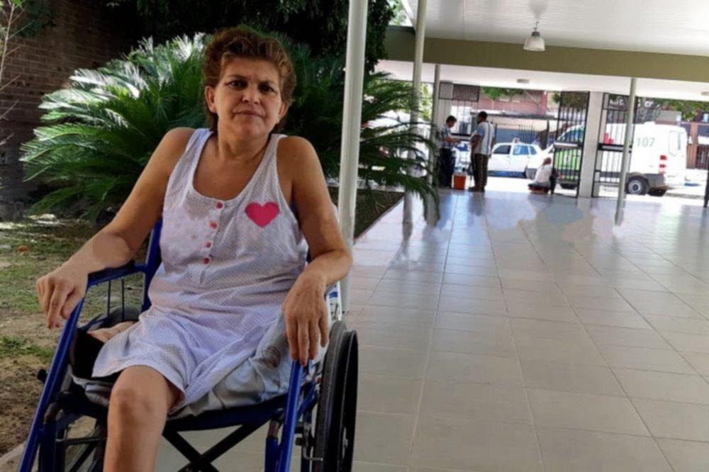 """<p>Fortaleza. Susana Duete vive en el Doctor Montaña y su hijo opina: """"No sé de dónde saca fuerzas"""".</p>"""