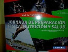 Jornada de Preparación Fisica, Nutrición y Salud a cargo del Prof. Mauri Mellone.