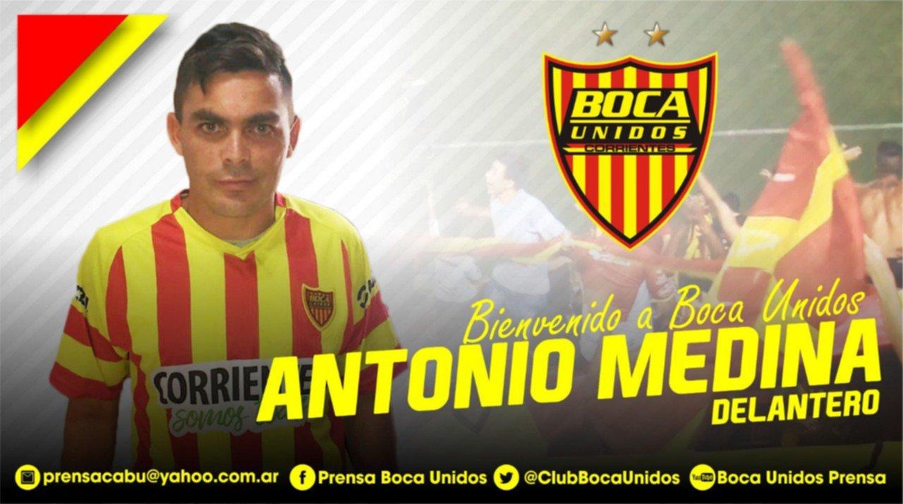 Boca Unidos repatrió a Antonio Medina