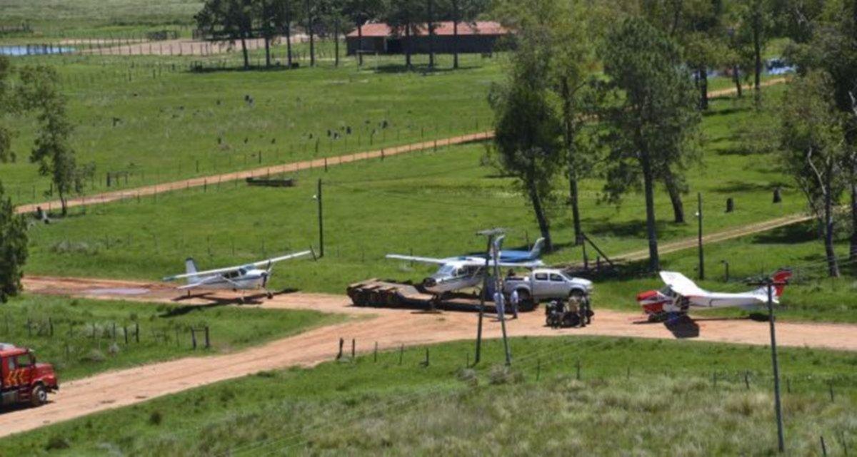 <p>La causa. La estancia donde aterrizaban los aviones cargados de cocaína.</p>